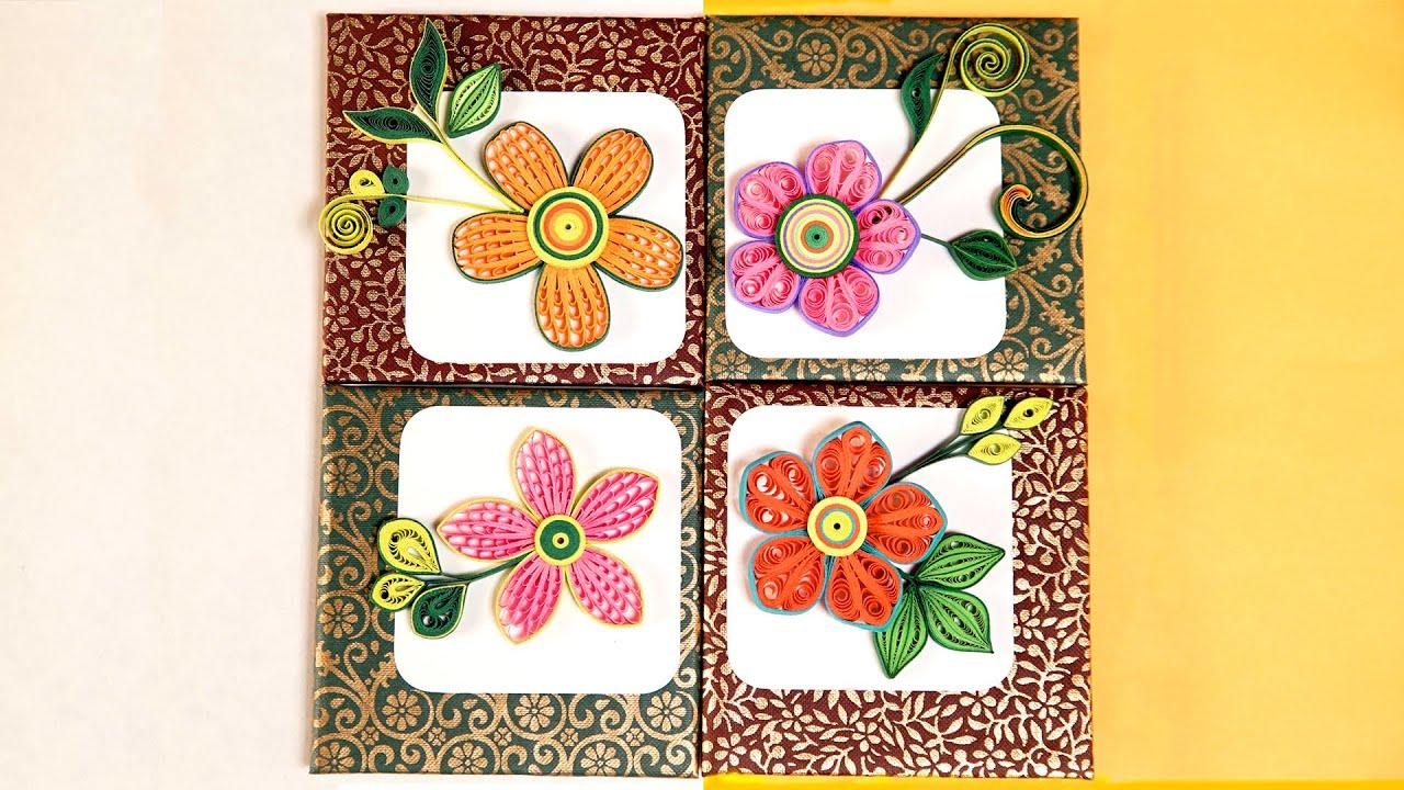 Wall Frames Flowers DIY | Paper Quilling Designs | DIY ...