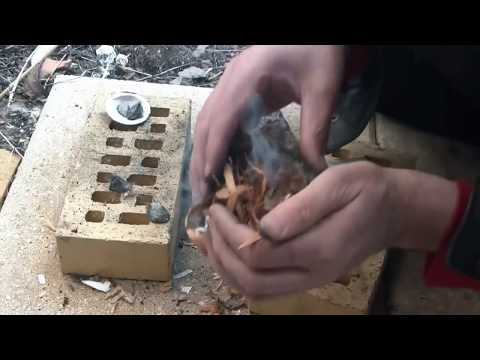 Primitive fire from stones - part 2 - using pyrite / marcasite & flint