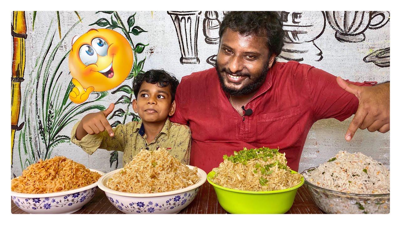 രമണന്റെ ചോറ് ചോറ് ചോറേ 🍚//4 Kind Of Rice Preparation//Kerala Food Vlogger//99th episode........
