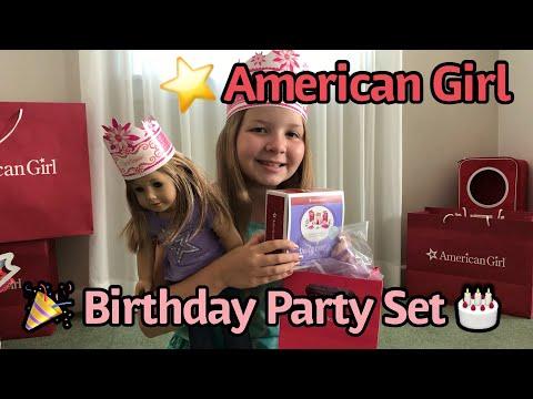 American Girl Doll Birthday Party Set - American Girl Store Birthday Goody Bag - American Girl Party