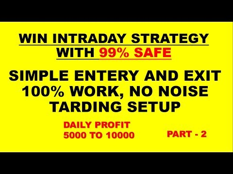 WIN INTRADAY STRATEGY WITH100%PROFIT|Safe intraday strategy|day trading successful|PART 2
