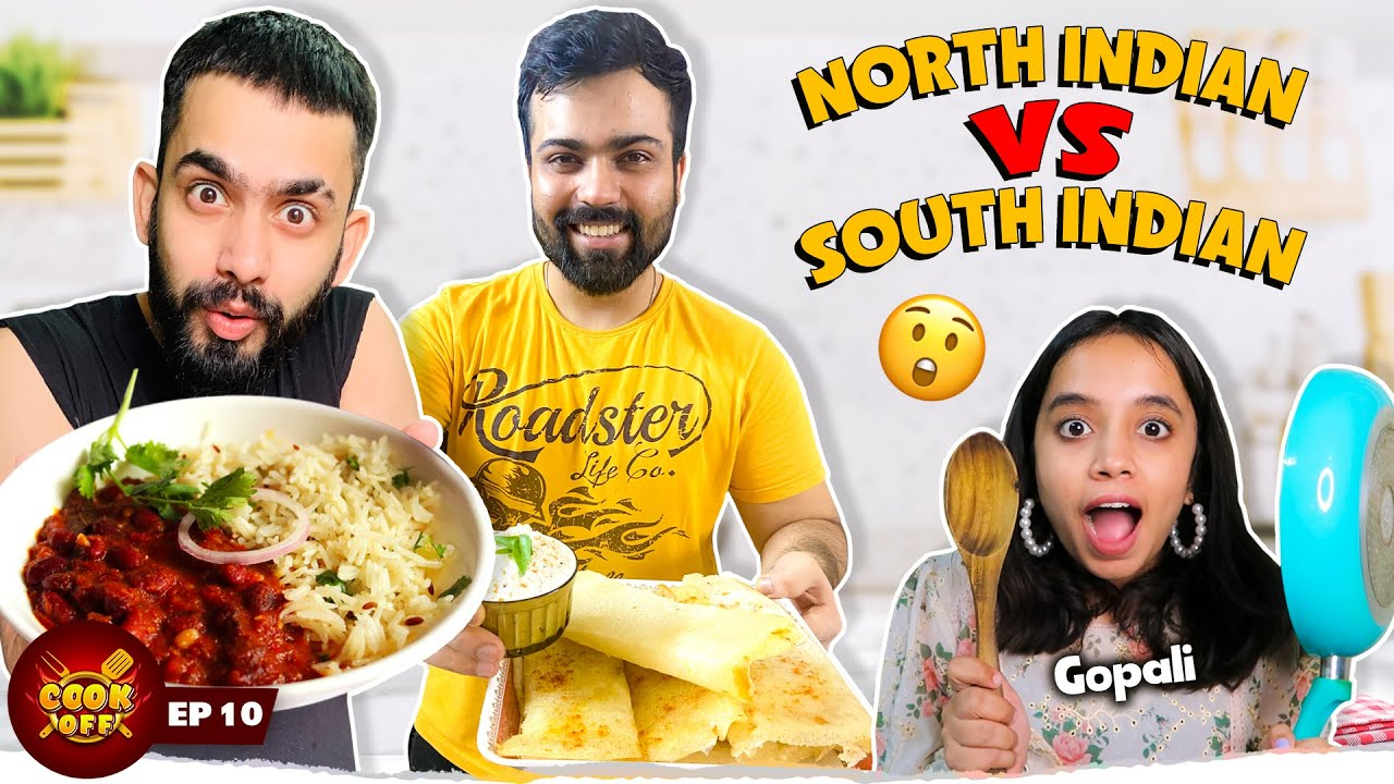 Rajma Chawal Vs Dosa Cooking Challenge ft. @Gopali  | North Indian Vs South Indian  ​[Cook Off#10]