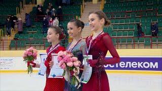 Церемония награждения Девушки Первенство России по фигурному катанию среди юниоров 2020