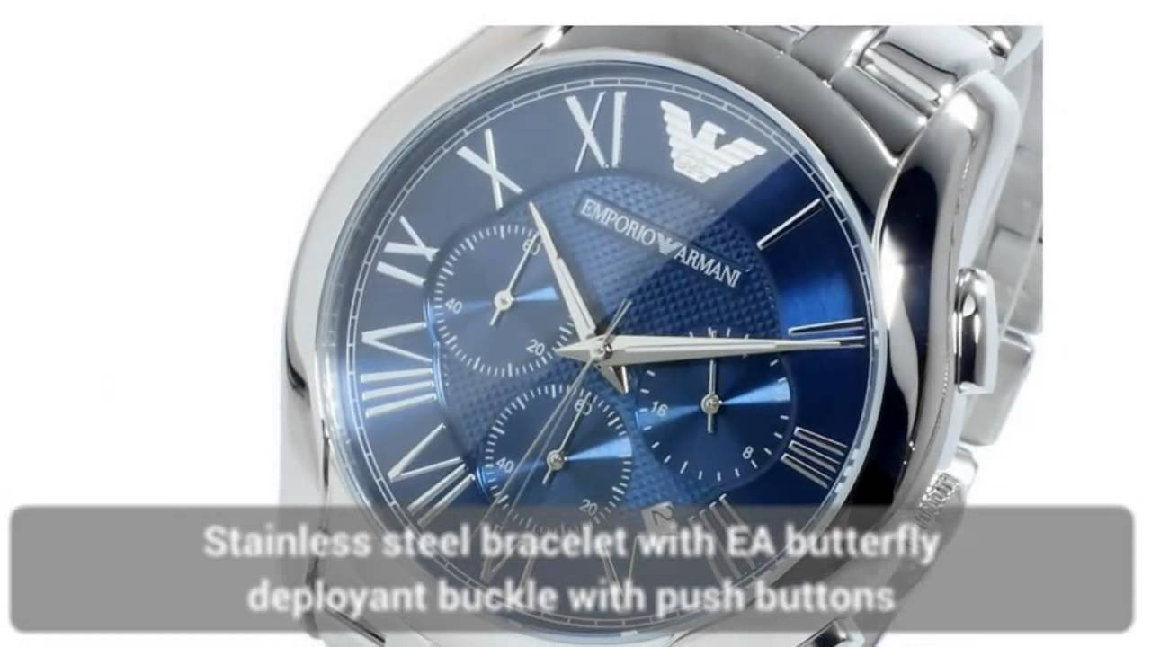 43534197d78 Emporio Armani Watches - 3 Cool Blue Dial Armani Mens Watches - YouTube