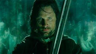 Арагорн договаривается с Войском Мёртвых Горцев. Властелин колец: Возвращение короля (2004)