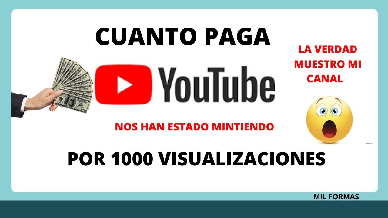 quanto paga youtube 2021
