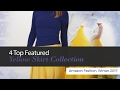 4 Top Featured Yellow Skirt Collection Amazon Fashion, Winter 2017