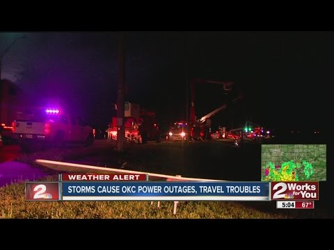 Storm causes Oklahoma City power outages