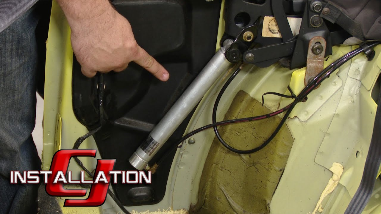 mustang convertible top hydraulic cylinder 1999 2004 installation [ 1280 x 720 Pixel ]