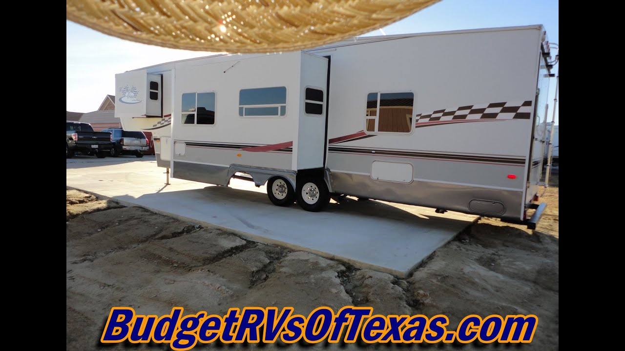 This 2005 Winners Circle 35 SRV HS 5th Wheel Toy Hauler Is The BOMB!