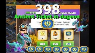 Got 398 Ancient Tickets in Dungeon-Dragon Mania legends | Vulture Dragon week | DML