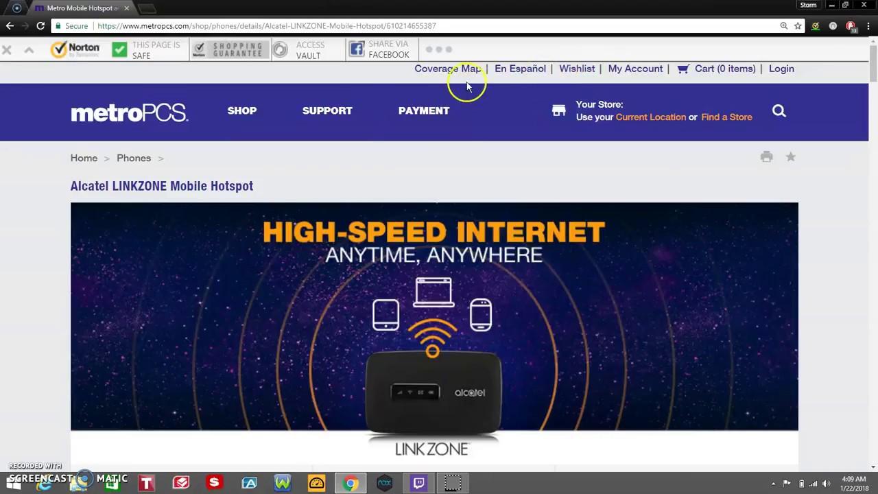 Alcatel LINKZONE™ Mobile Hotspot | MetroPCS