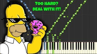 The Simpsons Theme [INSANE Piano Tutorial] (Synthesia)