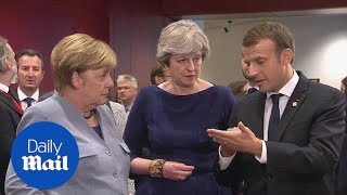 Theresa May joins EU leaders for a two-day Brussels summit - Daily Mail