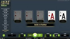 JACKS OR BETTER DOUBLE UP (one hand) - Online Video Poker - Virtual Game by NetEnt