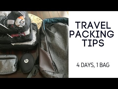 Travel Packing Tips: 4 Days, 1 Bag