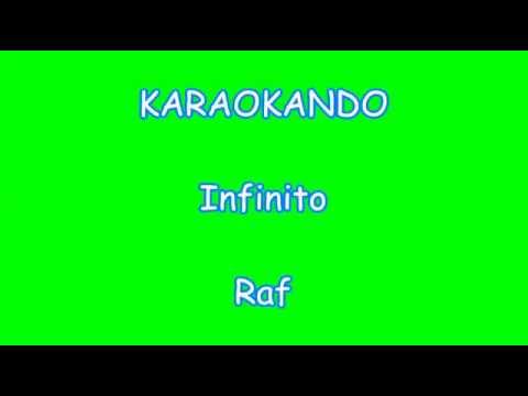 Karaoke Italiano - Infinito - Raf ( Testo )
