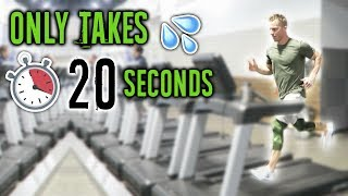HIIT Cardio Workout Routine For The Treadmill (THE 20 SECOND DASH)