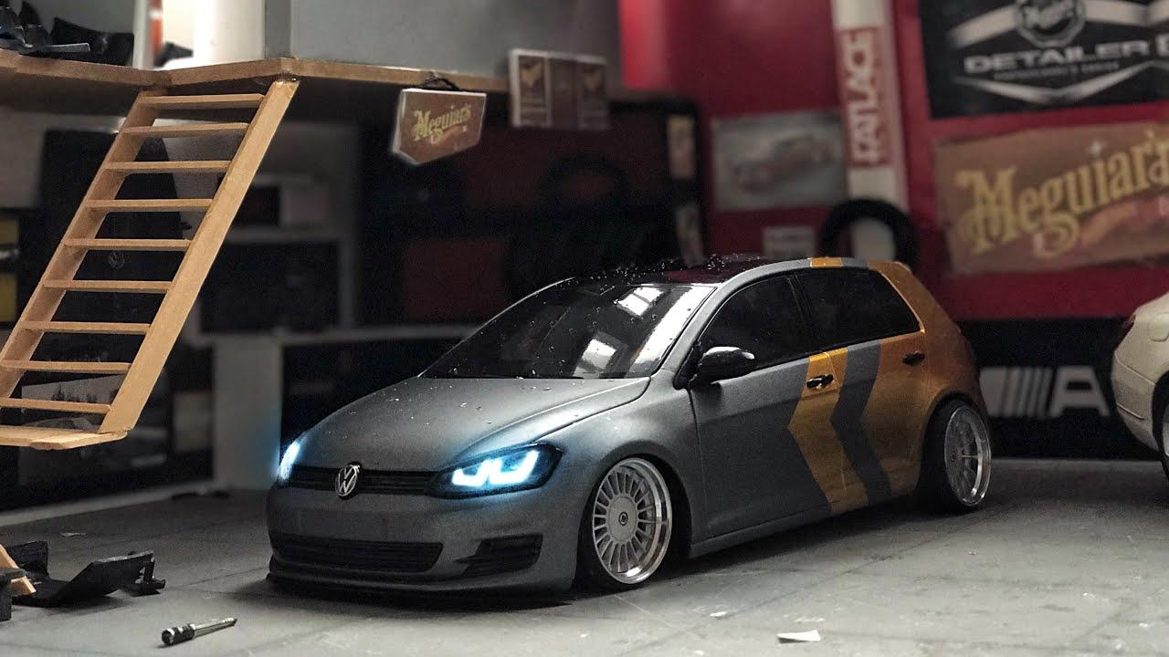 Volkswagen Golf 7 Gmg Folyosuyla Tasarım Kaplama | Komple Modifiye | 1:18 Diecast Model