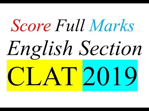 Tips to score Full Marks in ENGLISH Section CLAT | CLAT 2019 | Important Books | Priyanka Mam