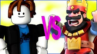 ROBLOX VS CLASH ROYALE СУПЕР РЭП БИТВА Роблокс игра анимация ПРОТИВ Клеш Рояль