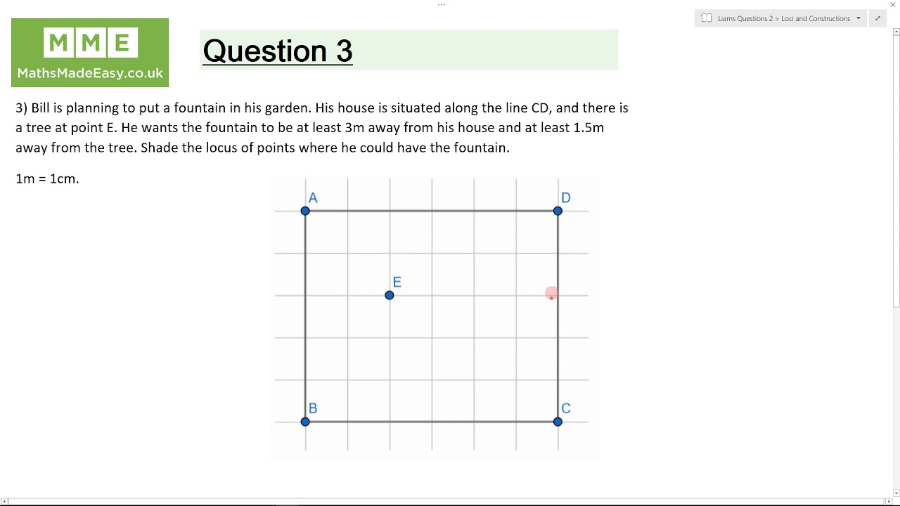 Loci and Construction Worksheets | Questions and Revision | MME