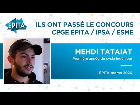 Ils ont passé le Concours CPGE EPITA / ISPA / ESME – Mehdi Tataiat