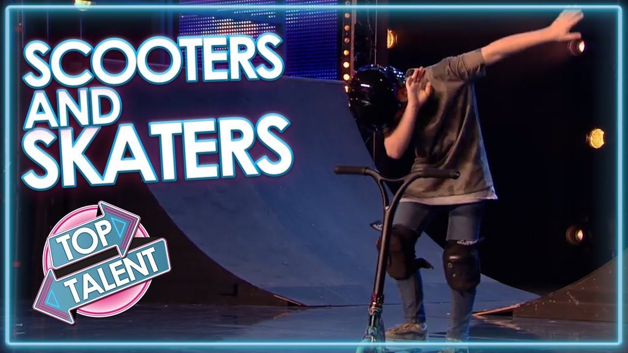SKATERS AND SCOOTERS On Got Talent! | Top Talent