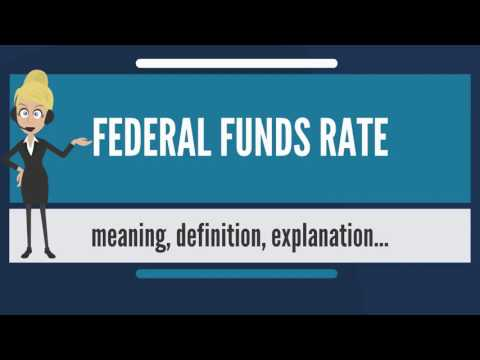What is FEDERAL FUNDS RATE? What does FEDERAL FUNDS RATE mean? FEDERAL FUNDS RATE meaning