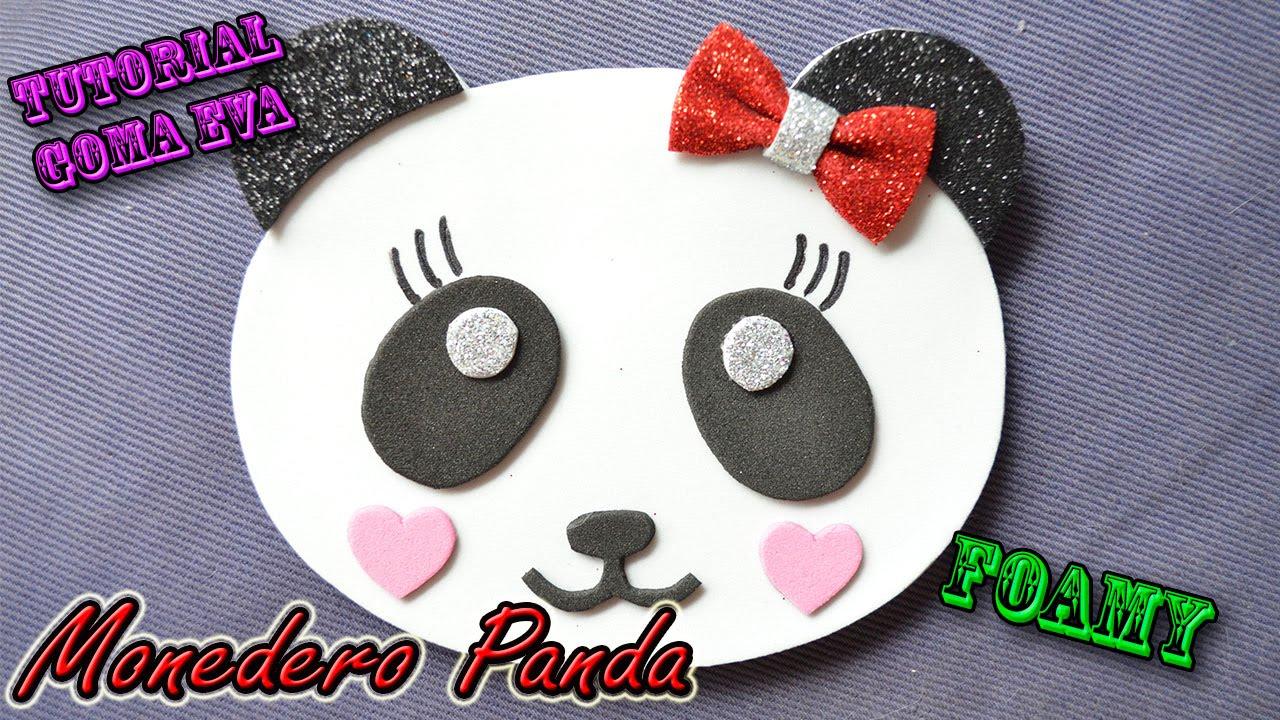 ♥ Tutorial: Monedero Oso Panda de Goma Eva (Foamy) ♥ - YouTube