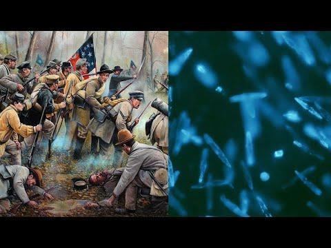 АНГЕЛЬСКОЕ СИЯНИЕ из КРОВОТОЧАЩИХ РАН солдат в битве при ШАЙЛО. Что это — ЧУДО или НАУКА?