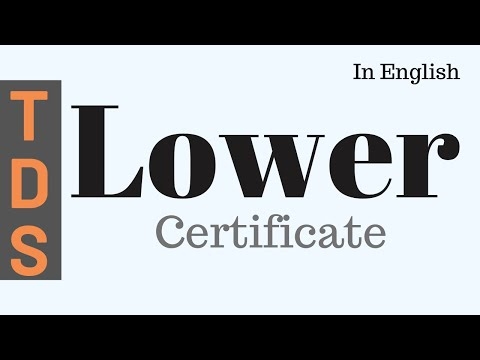 Lower Tds Certificate English