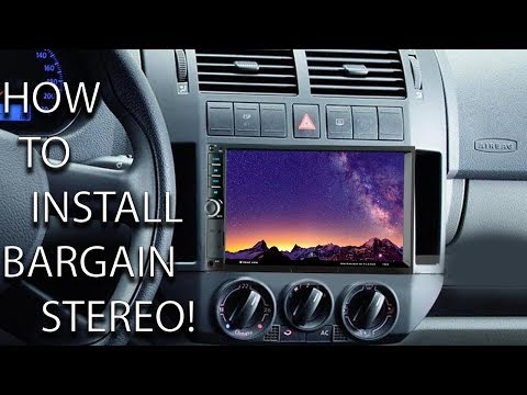 How to Install 2DIN stereo In VW polo - Review On Budget Car Stereo.