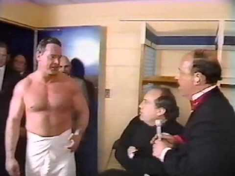 Roddy Piper interrupts an interview with Danny DeVito (02-18-1985)