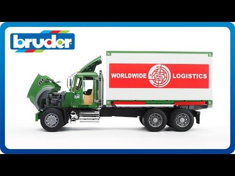 Bruder Toys MACK Granite  Container Truck w. Forklift #02820