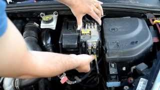 How to remove battery and replace on peugeot 307, 308 and citroen c4