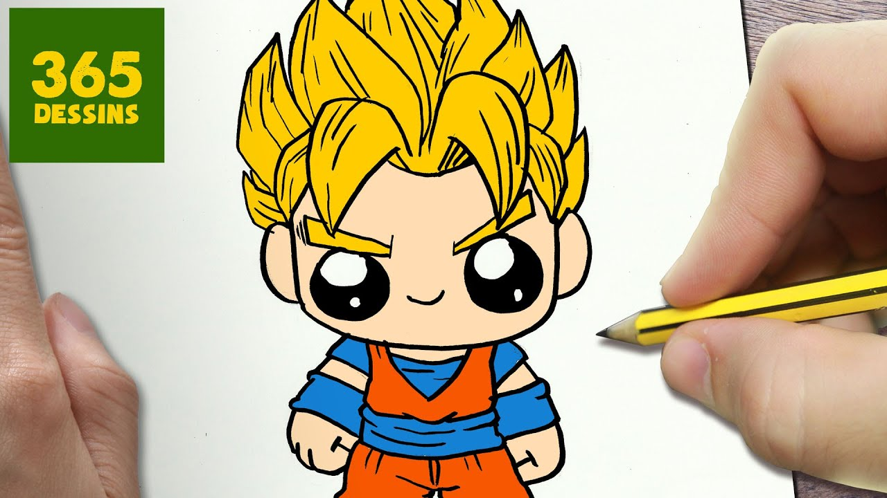 Comment dessiner goku kawaii tape par tape dessins kawaii facile youtube - Dessin dragon ball z facile ...