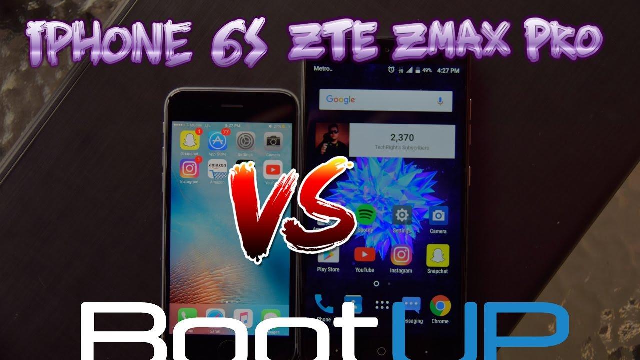 the Mini zte zmax vs iphone 6 looks tell