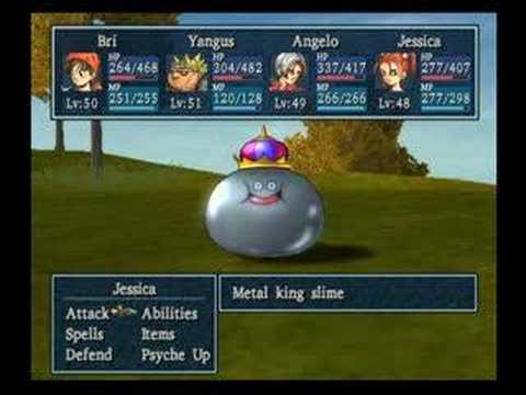 Dragon Quest VIII - How To Kill A King Metal Slime