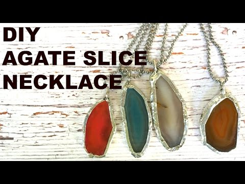 DIY Agate Slice Pendant