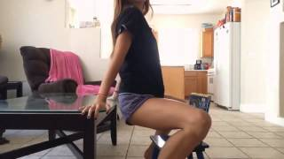 Twerking on baby chair