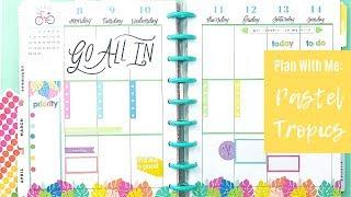 Plan With Me | Pastel Tropics