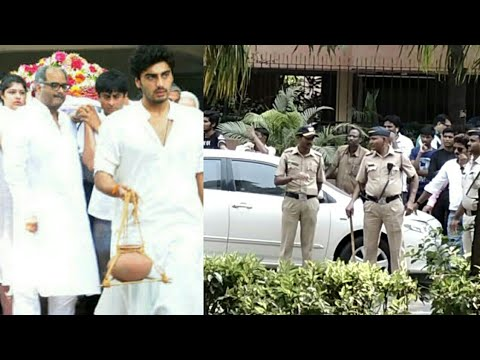 Tight Security and Media outside Sridevi 's Mumbai House After Her Sad Demise
