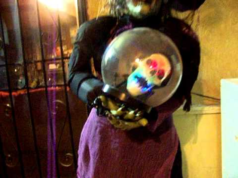 Animated Life Size Crystal Ball Witch