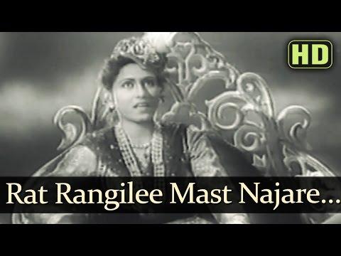 Raat Rangilee Mast Nazare - Dulari Songs - Suresh - Madhubala - Mohd Rafi