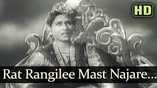 Raat Rangilee Mast Najare - Dulari Songs - Suresh - Madhubala - Mohd Rafi