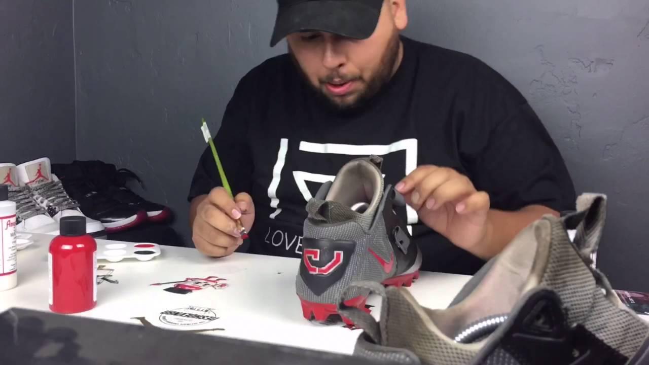18f7ea19a Custom Cleats (Calvin Johnson) - YouTube