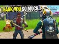 GIFTING MY BIGGEST FAN A *MAX* TIER 100 BATTLE PASS ON FORTNITE! (14,000 V-Bucks Season 6)
