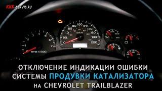 Отключение индикации ошибки по системе продувки катализатора на Chevrolet TrailBlazer