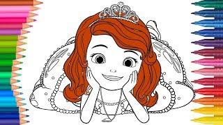 Prinzessin Sofia Ausmalbilder Färbung | Sofia die Erste Deutsch Ausmalbilder | Kleine Hände Malbuch